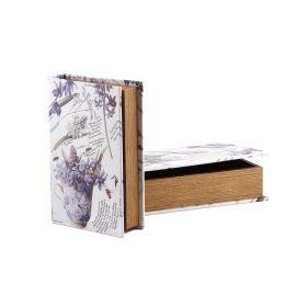 Набор шкатулок-книг из 2 шт. 33*22*7/26*17*5 см.-184-178