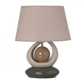 Светильник+абажур овал 32*20 см.высота=40 см.е-14-139-025