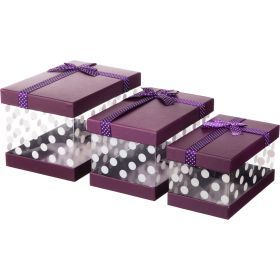 Комплект коробок из 3 шт.24*16*15/22*14*13/20*12*11 см.