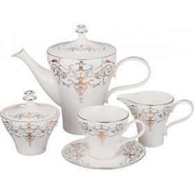 Чайный сервиз на 6 персон 15 пр. 1000/180 мл.-766-041