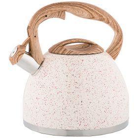 Чайник agness со свистком 2,6 л термоаккумулирующее индукционное дно-948-003