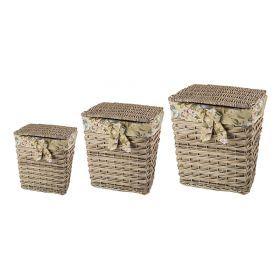 Набор корзин для белья из 3-х шт.47*36*55/39*28*45/31*21*36 см.