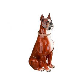 Фигурка-собака  боксер  высота=91 см.