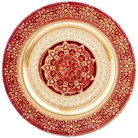 Тарелка «jasmin» red 28 cm-339-169