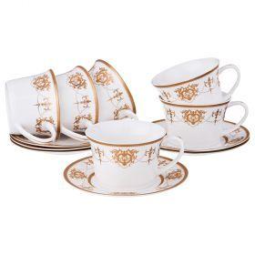 Чайный набор на 6 персон 12 пр. 200 мл.-760-612
