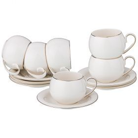 Чайный набор на 6 персон 12 пр. 200 мл.