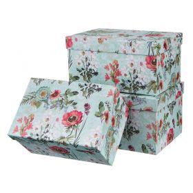 Набор подарочных коробок из 3 шт. 26*19*14/24*17*12,5/22*15*11 см.-37-251
