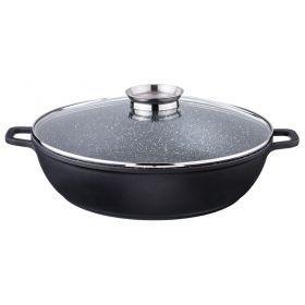 Сковорода-сотейник с крышкой и арома-ручкой диаметр=36 см.высота=9 см.7,6 л.-932-223