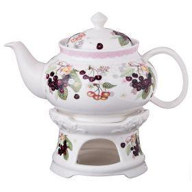 Чайник заварочный на подставке 600 мл.-165-369