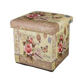Пуфик декоративныйпрованс-2 30*30*30 см.без упаковки (кор=6шт.)