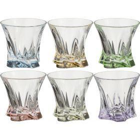 Набор стаканов для виски из 6 шт. cooper mix 320 мл. диаметр=10 см. высота=9 см.