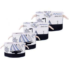 Набор корзинок для хранения с ручками из 4-х шт. l:ф35*18/m:ф31*16/s:ф27*14/xs:ф23*12 см.-190-187