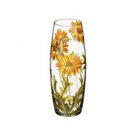 Ваза хризантема желтая овал диаметр=11 см. высота=30 см.