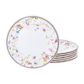 Набор десернтых тарелок из 6 шт. диаметр=20 см-274-892