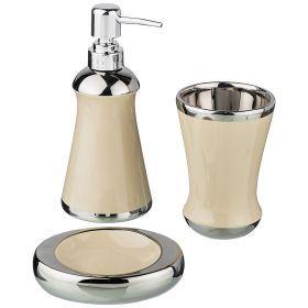 Набор для ванной комнаты, 3 пр. (дозатор=300мл, стакан=300мл, мыльница 13*9*3см)-791-088