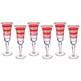Набор бокалов для шампанского из 6 шт.250 мл.высота=24 см.-103-475