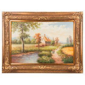 Картина масляная на холсте 89*59 см. багет 118*87 см.-107-1084
