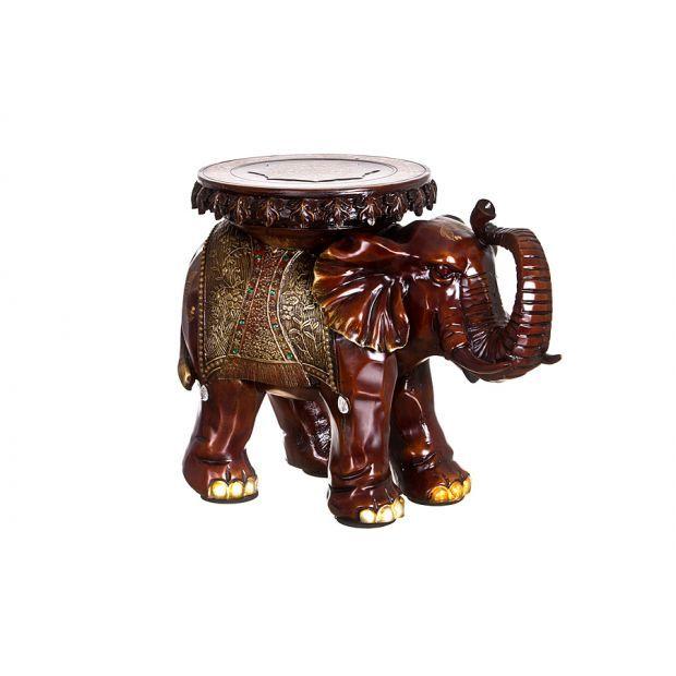 """Подставка-слон """"зеленые цветы-успех в новых начинаниях"""" 49*29 см. высота=39 см.-114-050"""