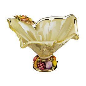 Декоративная чаша 38*35 см.высота=24 см.