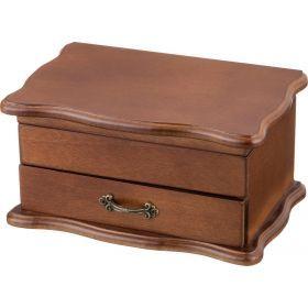 Шкатулка для украшений коричневая 20,5*13*10 см.-255-128