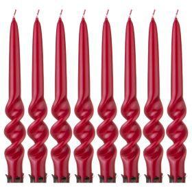 Набор свечей из 8 шт. лакированный бордовый-348-634