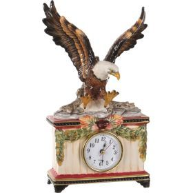 Часы настольные орел 15*7 см. высота=28 см. диаметр циферблата=6,5 см.