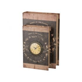 Шкатулка-книга с часами кварцевыми 33*22*13 см.диаметр циферблата=7 см.