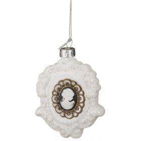 Декоративное изделие медальон дама 6,5*9 см.-862-028(Товар продается кратно  6шт.)