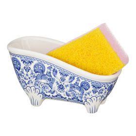Подставка под губку ванночка с губкой 15*6*8 см.-274-823
