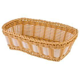 Корзинка цветное плетение 24*15*7 см-109-258