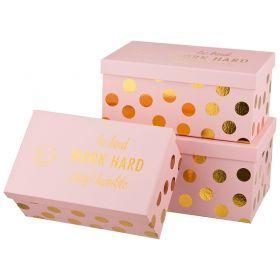 Набор подарочных коробок из  3 шт.33*22*15/31*20*14/28*18*12 см.-37-225