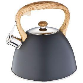 Чайник agness со свистком 3,0 л, индукцион. капсульное дно-908-054
