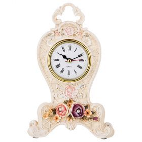 Часы настольные 21*10 см диаметр циферблата 6 см (кор=24шт.)-504-210