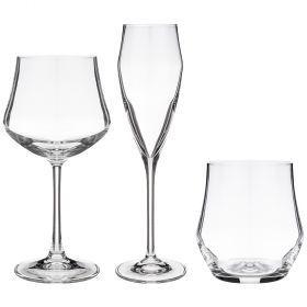 Подарочный набор 18 предметов ego (6+6+6) бокалы для воды 390мл, вина 430мл, шампанского 180мл-305-647