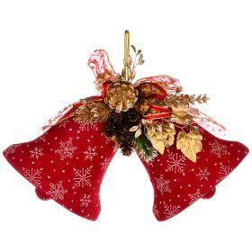Декоративное панно колокольчики цвет:красный 20 см без упаковки (кор=84 шт.)-161-171