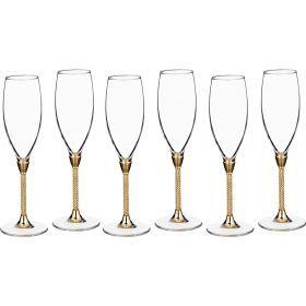 Набор бокалов для шампанского из 6 шт.250 мл.высота=25 см.-661-039