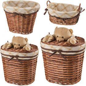 Набор корзин для игрушек из 4-х шт. l:49*37*55. m:41*29*40. s:33*21*26. xs:30*21*14 см.