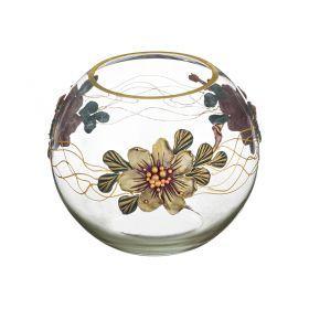 Ваза декоративная сиреневый цветок лепка высота=22 см.