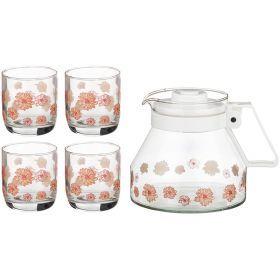 Набор 5 пр.:кувшин + 4 стакана 1300/200 мл.-181-203