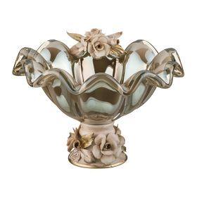 Чаша декоративная диаметр=24 см.высота=13 см.-647-595