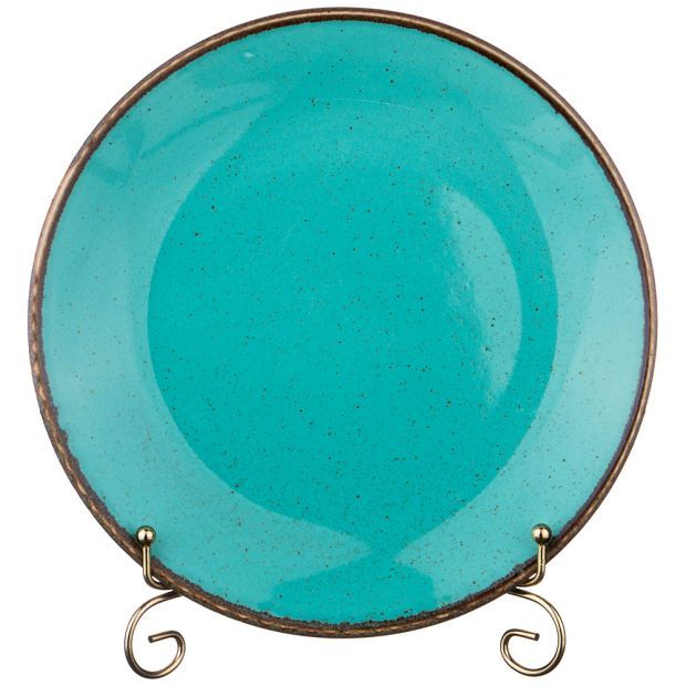 Тарелка seasons плоская 24 см цвет бирюзовый (кор=12шт.)-664-195