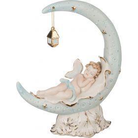 Статуэтка малыш на луне высота=24 см.20*9 см.