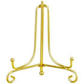 Комплект подставок для тарелок из 10 шт. высота=10 см металлическая цвет - золото-244-109
