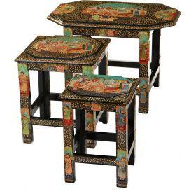 Набор из консольных столиков из 3 шт.23*22*32/30*29*35/36*54*38 см.(кор=1набор.)-881-009