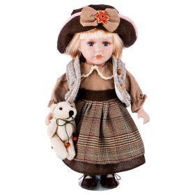 Кукла фарфоровая высота=30 см.-346-249