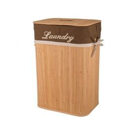 Корзина для белья бамбук 40*30*60 см.