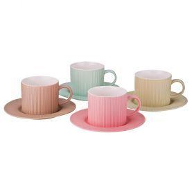 Чайный набор на 4 персоны 8 пр 280 мл.-482-123
