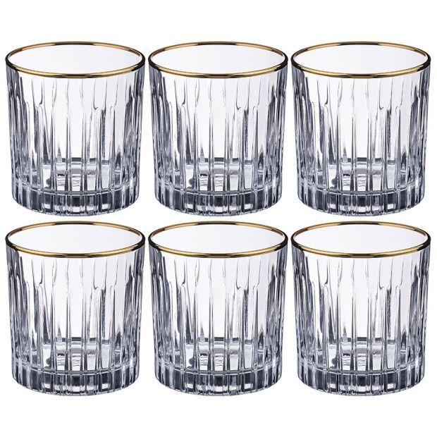 Набор стаканов из 6 шт. 300 мл. высота=9 см.-103-557