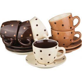 Чайный набор на 6 персон 12 пр. 200 мл.высота=7 см.-756-099
