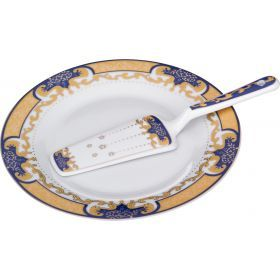 Блюдо для торта с лопаткой диаметр=23 см. высота=2 см.-389-396